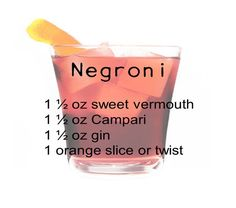 Negroni | 10 Awesome Mob Cocktails