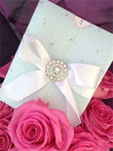 Amanda Luxury Handmade Winter Wedding Invitation