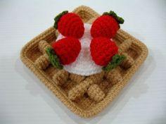 Crochet Pattern WAFFLES Toys / Playfood PDF 00379 por skymagenta