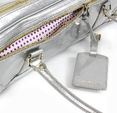 161445e9aa5 Most Fluterscooter bags have a polka dot lining in the outside pocket. This  newest silver