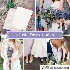How cool is it that 2 of our weddings are picked for this weeks #OregonBridemag 's Instafavs!?!?!? Thank you @sweetlife_photography and @jessica_k_watson for all your hard work and for being fabulous vendor partners! Way to go #YPB Team!  #Repost @oregonbridemag  Congrats to this week's faves! We're sad to see lavender season come to an end. #oregonbride #oregonwedding #bride #wedding #lavender