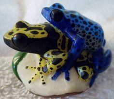 The Double or two Frog tagua carving is exceptional. It was carved by Francisco Cabezon but it isn't signed. Shipping included within the USA.