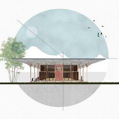 Door studioluminechennai Tag illustrarch om f te krijgen Sketchbook Architecture, Architecture Design, Landscape Architecture Model, Architecture Drawing Plan, Architecture Drawing Art, Conceptual Architecture, Architecture Graphics, Architecture Visualization, Minimalist Architecture