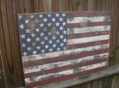 Vintage look Distressed American Flag Wall decor by ATouchofChic, $15.00