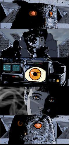 Illustration of Laurie Greasley. Comic Books Art, Comic Art, Geeks, Blade Runner Art, Science Fiction, Films Cinema, Arte Cyberpunk, Bd Comics, Fan Art