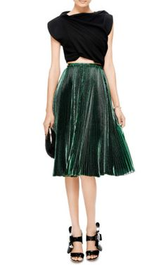 Pleated Chiffon and Lurex Skirt by Rochas - Moda Operandi, How would you style this? http://keep.com/pleated-chiffon-and-lurex-skirt-by-rochas-moda-operandi-by-blair_gilbert/k/2e8BlVABD9/