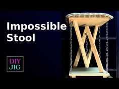 How to make an impossible stool - DIY JIG Woodworking Workshop, Woodworking Projects, Floating Chair, Diy Stool, Folding Furniture, Got Wood, Wooden Stools, Wood Glass, Recycled Art
