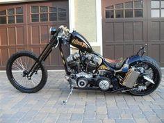 Lord of Motors: King Pin Chopper Chopper Motorcycle, Scrambler Motorcycle, Bobber Chopper, Motorcycle Garage, Triumph Bobber, Motorcycle Design, Custom Bobber, Custom Motorcycles, Custom Bikes