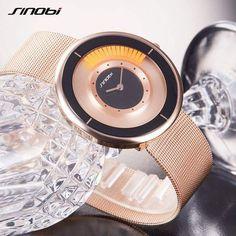 Sinobi Black and Peach Watch Simple Yet Unique