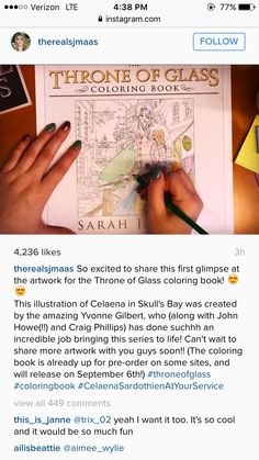 THERE IS GOING TO BE A THRONE OF GLASS COLORING BOOK