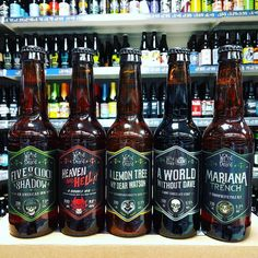 5 new beers in from @WeirdBeard_Brew in stock now including Bourbon Barrel Aged DIPA Heaven & Hell