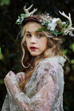 Perhaps you want something a bit more rustic? This flower crown from Innocent Chaos would add a dreamy feel to your look and go amazingly well with a boho wedding dress.