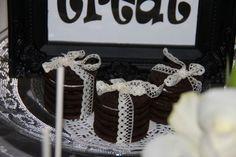 Ankerwerfer, Candy Bar, schwarz/weiß, Gothik, Halloween, Hochzeit