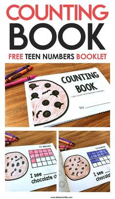 FREE printable counting book for numbers 11 – 20.