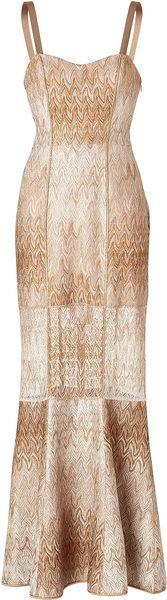 Metallic Knit Gown