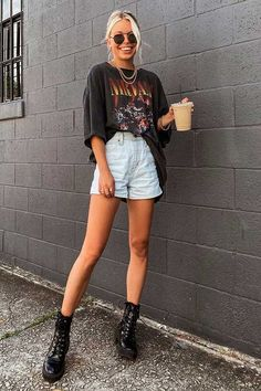 Simple Summer Outfits, Cute Casual Outfits, Chic Outfits, Girl Outfits, Teen Fashion Outfits, Outfits For Teens, New Outfits, Blusas Oversized, Look Cool