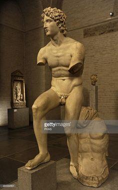 Alexander the Great (356-323 BC). King of Macedon. Alexander Rondanini. Copy of an original by Euphranor. 338 BC. Glyptothek Museum. Munich. Germany.