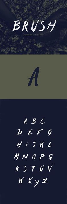 Designer Alexandre Poirier has created this free Type brush font and decided to share it with the rest of the community. Free Typing, Brush Font, Typography Inspiration, Fonts, Letters, Type, Handmade, Designer Fonts, Hand Made