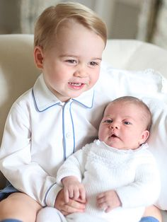 Princess Charlotte's Oh-So-Adorable Baby Album | BONDING WITH HER BROTHER | When: Mid-May 2015Where: Home at Anmer Hall