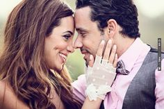 love this photo & the bride's pretty polka dot gloves ~ makes me wish I had dimples too! | CHECK OUT MORE IDEAS AT WEDDINGPINS.NET | #weddings #weddinginspiration #inspirational