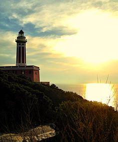 Lighthouse on Anacapri in Italy