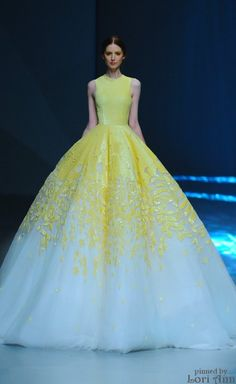 Pure elegant gown for Michael Cinco Spring 2015