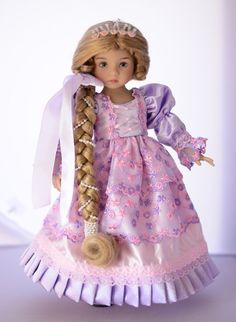 """SOLD """"Rapunzel"""" Dress,Outfit,Clothes for 13""""Effner Little Darling by Luminaria #ClothingAccessories"""