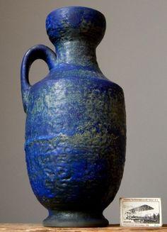Large Vintage 60-70's KARLSRUHE MAJOLIKA Vase West German Pottery Fat Lava Era in Pottery, Porcelain & Glass, Date-Lined Ceramics, 1960s/ 1970s | eBay