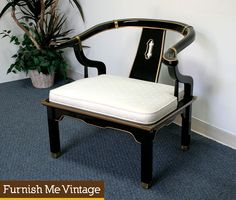 James Mont Style Regency Asian Modern Ming Chair