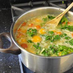 lentil, spinach soup