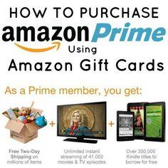 amazon prime with amazon gift card