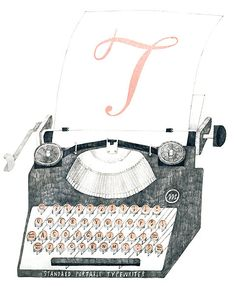 Learned to type on Aunt Kat's ... Just like this one .... New illustrations by Tokyo-based Masako Kubo