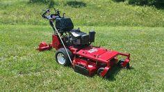 "Exmark 36"" Turf Tracer Commercial Walk Behind Zero Turn Hydro Lawn Mower W/Sulky #Exmark"