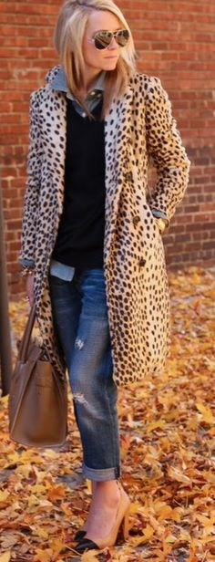 Dang, I literally JUST walked away from a vintage leopard coat like this at a thrift store this past weekend! Will have to go back and see if it's still there.