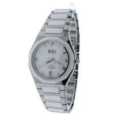 Oniss ON622-LWT Womens Watch White Dial Tungsten & Ceramic With Genuine Diamonds