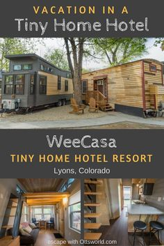 Do you love tiny homes?  Then take one for a test spin on your next vacation! Visit WeeCasa in Lyons Colorado and have a tiny weekend getaway! Travel in North America.