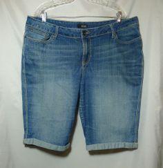 Denim SHORTS Plus size 20W longer A.N.A.  Cute details on back pockets.