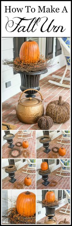 How To Create A Fall Urn The Fast And Easy Way