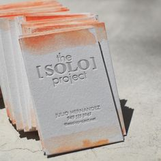 i like the look of letterpress and the subtle addition of color from the watercolor