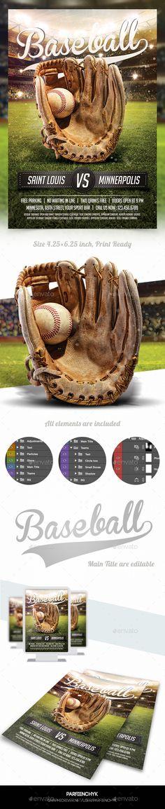 Baseball Game Flyer Template #design Download: http://graphicriver.net/item/baseball-game-flyer-template/12450429?ref=ksioks