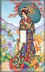 Geisha - Counted cross stitch pattern by Kajupatterns on Etsy Geisha Art, Art Asiatique, Japanese Geisha, Japanese Lady, Geisha Japan, Japanese Kimono, Illustration, Cross Paintings, Japan Art