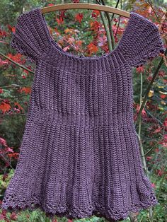 Crocheted Cap-Sleeve Top - Free Crochet Pattern With Website Registration - (anniescatalog)