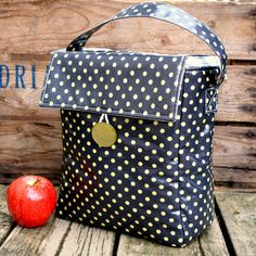 Grey And Yellow Polka Dots Sonja H Lunch Bags