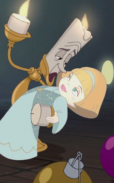 """Beauty and the Beast: The Enchanted Christmas"" - Lumiere and Angelique."