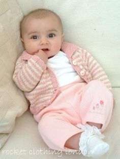 Baby Cardigan 'Mini Stripe Knitting pattern by Rocket Clothing London   Knitting Patterns   LoveKnitting