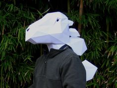 Make Your Own Stegosaurus Dinosaur Mask with just Paper and Glue!