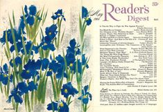 Rochester Institute Of Technology, Readers Digest, Vintage Magazines, Vintage Art, Iris, Skyline, Watercolor, Landscape, Abstract