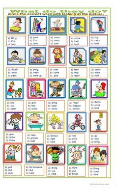 action words exercise worksheet - Free ESL printable worksheets made by teachers