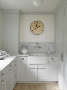 Dreamy Laundry Room Inspiration to Re-imagine a Timeless Tranquil Design! - Hello Lovely Classic English country dreamy laundry room inspiration with pale colors and a serene mood. Laundry Room Storage, Laundry Room Design, Laundry Rooms, Laundry Area, Basement Laundry, Laundry Sinks, Laundry Closet, Small Laundry, Laundry Cupboard