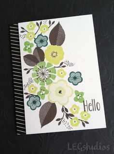 Pinefeather, New Leaf, Limeade Ice, Vanilla - LEG Studios: PTI May Blog Hop - Floral Color Challenge